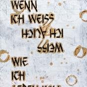 Literarische Blumenwiese · Texttafel